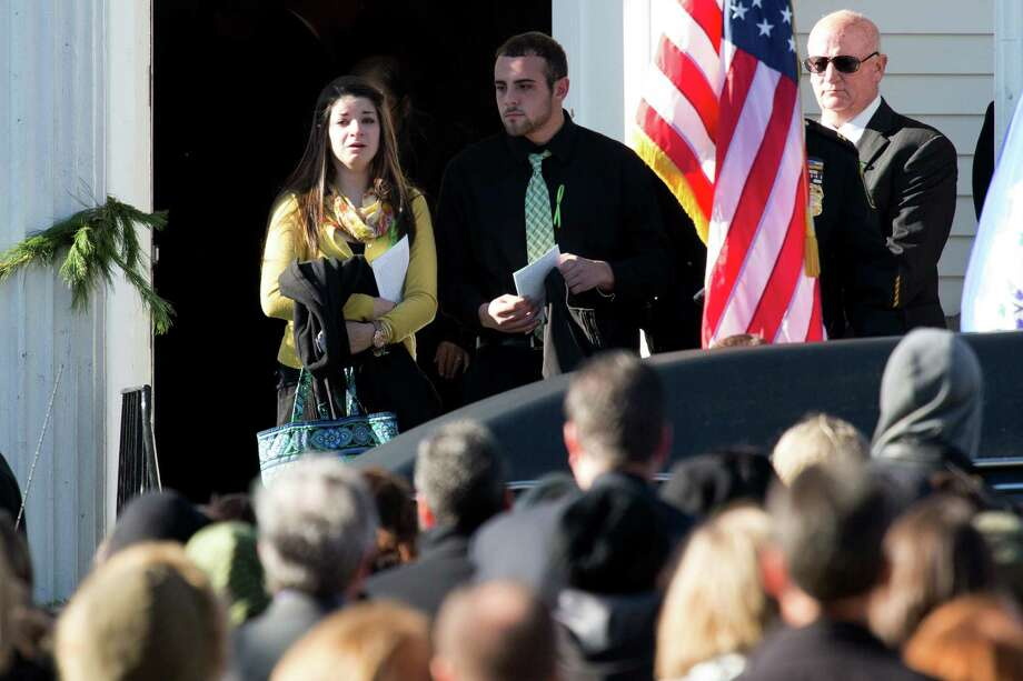 Mike Ross Connecticut Post freelance - Carlee Soto sister of Victoria Soto, the first-grade teacher at Sandy Hook Elementary School who was shot and killed while protecting her students, makes her way out the entrance of the funeral mass at Lordship Community Church on December 19, 2012 in Stratford, Connecticut. Photo: Mike Ross / @www.mikerossphoto.com