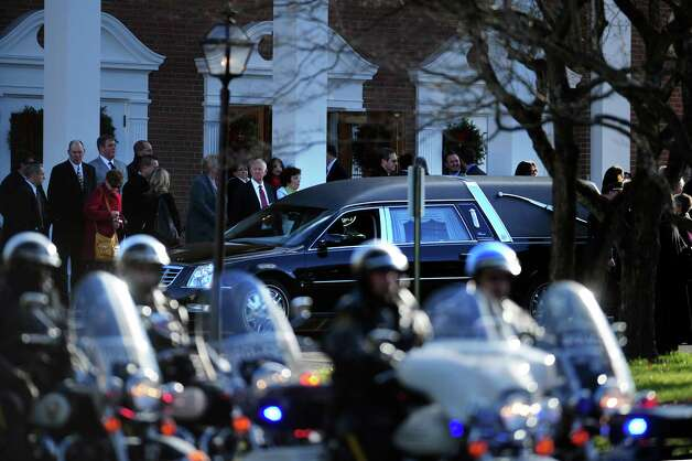Funeral services for Caroline Previdi, a student victim of the Newtown shootings, is held Wednesday, Dec. 19, 2012 at St. Rose of Lima Roman Catholic Church in Newtown, Conn. Photo: Autumn Driscoll / Connecticut Post