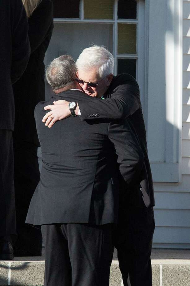 Mike Ross Connecticut Post freelance -Mourners embrace while attending the funeral for Victoria Soto, the first-grade teacher at Sandy Hook Elementary School who was shot and killed. Photo: Mike Ross / @www.mikerossphoto.com