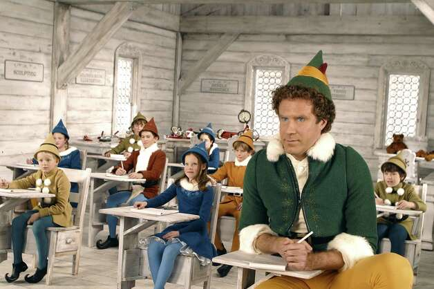 "Will Ferrell (right) stars as Buddy the Elf. ""Elf"" airs on ABC family: