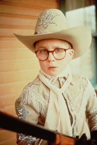 "Peter Billingsley as Ralphie in the film ""A Christmas Story."" TBS will air this classic several times. Mon 12/24 at 9:00 pm, Mon 12/24 at 11:00 pm, Tue 12/25 at 1:00 am, Tue 12/25 at 3:00 am, Tue 12/25 at 5:00 am, Tue 12/25 at 7:00 am, Tue 12/25 at 9:00 am, Tue 12/25 at 11:00 pm, Tue 12/25 at 1:00 pm, Tue 12/25 at 3:00 pm, Tue 12/25 at 5:00 pm. Photo: File Photos"