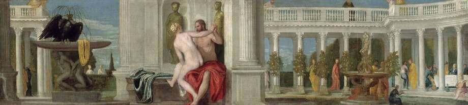 "This undated image released by Ringling Museum shows Paolo Veronese's ""Jupiter and a Nude."" Veronese captured 16th century Venice in all of its glory: rich people in sumptuous clothing, stunning architecture and vibrant colors.  More than 70 of his works are on display at the John and Mable Ringling Museum of Art in Sarasota, Fla. The special exhibit  runs through April 14, 2013.  (AP Photo/Ringling Museum) Photo: Associated Press / Ringling Museum"