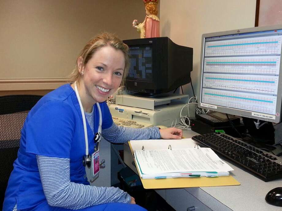 Brittany Anderson is one of several registered nurses who oversees the progress of moms-to-be at St. Joseph Medical Center.