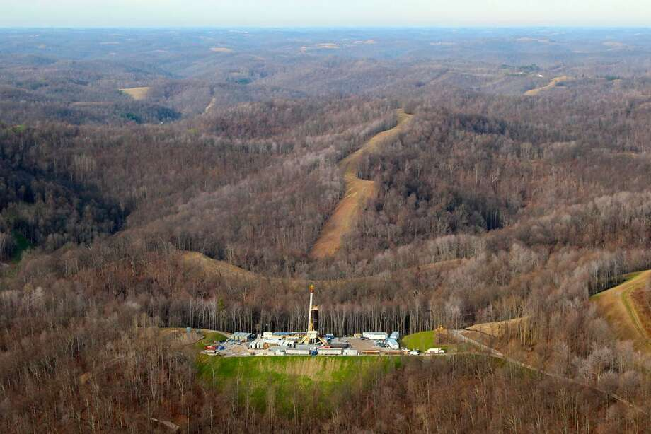 A rig drills in the shale region of West Virginia for a Statoil project. The company made a major purchase in the area.