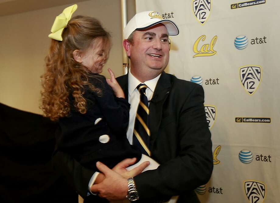 Sonny Dykes welcomes all, including daughter Ally, to Cal's football practices. Photo: Brant Ward, The Chronicle