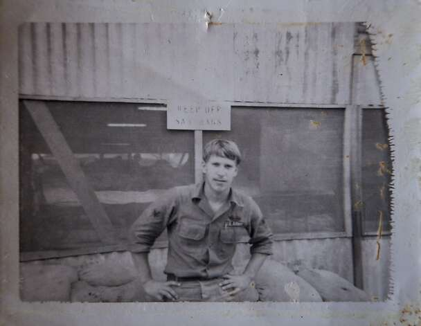John Conrad served in Vietnam, above, and battled for benefits much of his later life, left. More than a year after he died of leukemia, the government sent his widow a letter acknowledging his cancer was caused by exposure to Agent Orange. Photo: Courtesy Of Linda Conrad