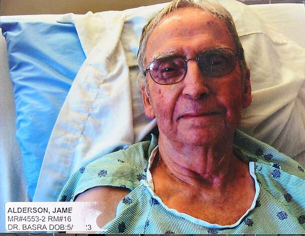 James Alderson at the Skilled Nursing Center 6 days before he died on September, 25th, 2012. Photo: Courtesy Of Kale Alderson