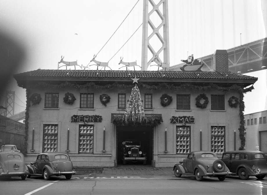 It was Dec. 19, 1949, and after months of work the SF Fire Department firehouse decorations were complete. Firefighters competed for prizes, and organized bus tours for disadvantaged kids. Enjoy these 20 slides showing one of the greatest lost traditions of San Francisco. (Art Frisch / The Chronicle)