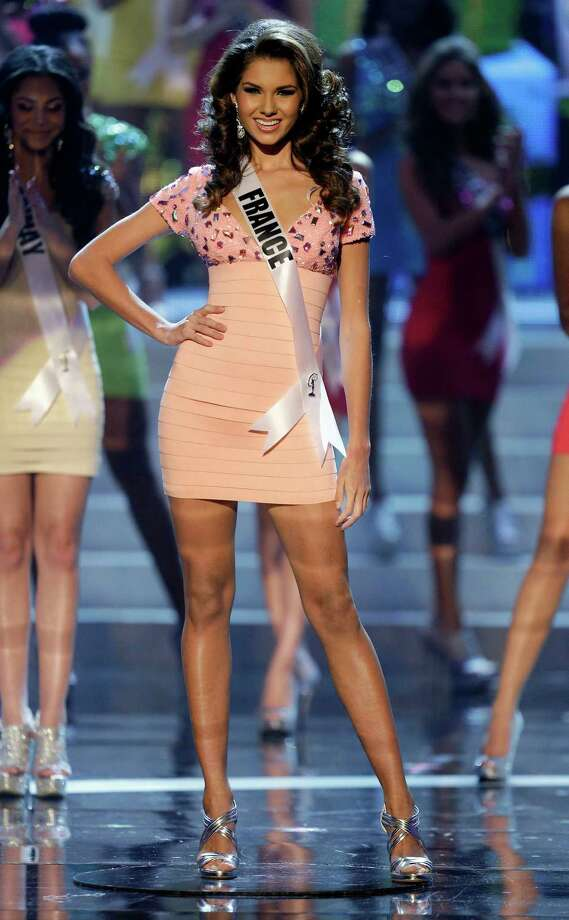 Miss France, Marie Payet, takes center stage as one of the final 16 contestants. Photo: AP