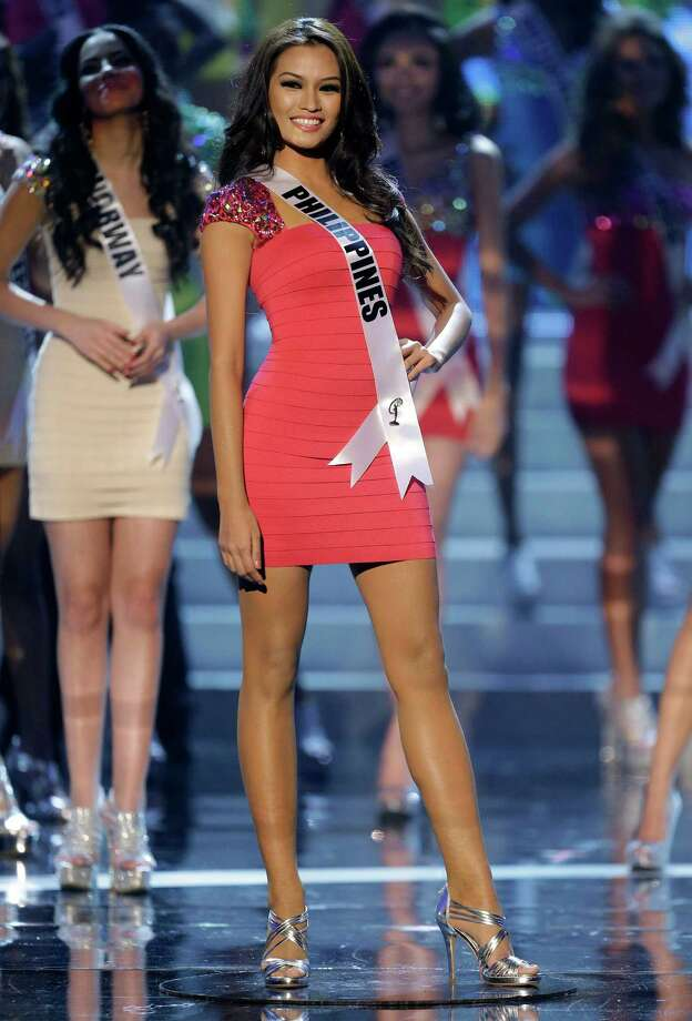 Miss Philippines Janine Tugonon takes center stage as one of the final 16 contestants. Photo: AP