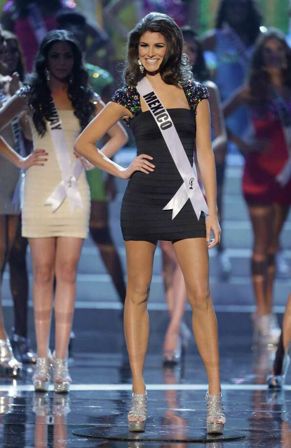 Miss Mexico Karina Gonzalez reacts as she is announced as one of the final 16 contestants. Photo: AP