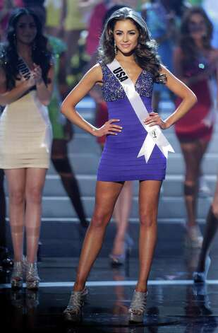 Miss USA Olivia Culpo steps out as she is named one of the final 16 contestants. Photo: AP