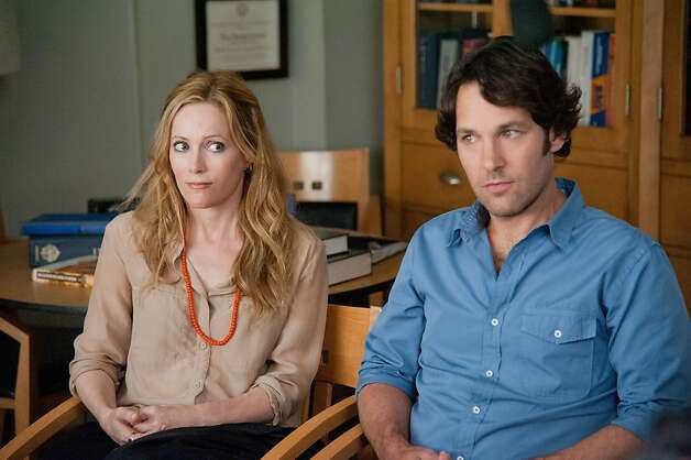 "Debbie (Leslie Mann) and Pete (Paul Rudd) are in a marriage meltdown in Judd Apatow's ""This Is 40."" Photo: Suzanne Hanover, Universal Pictures"
