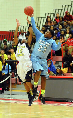 Boys basketball action between Kolbe Cathedral and Notre Dame of Fairfield at Sacred Heart University in Fairfield, Conn. on Wednesday December 19, 2012. Photo: Christian Abraham / Connecticut Post