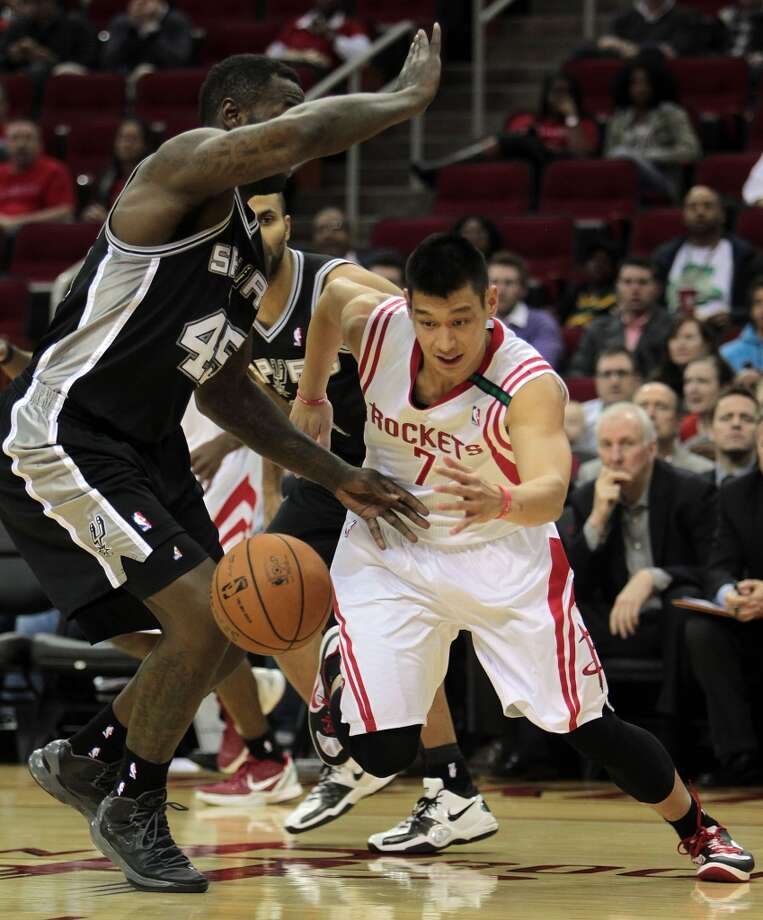 Dec. 10: Spurs 134, Rockets 126 (OT)Jeremy Lin had his best scoring performance as a Rocket, but the Spurs pulled away in overtime. Record: 9-11. (James Nielsen / Houston Chronicle)