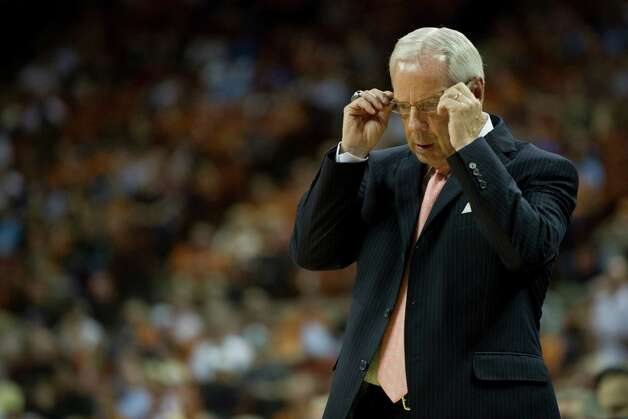 Head coach Roy Williams of the University of North Carolina Tar Heels looks on as his team plays against the University of Texas Longhorns on December 19, 2012 at the Frank Erwin Center in Austin. Photo: Cooper Neill, Getty Images / 2012 Getty Images