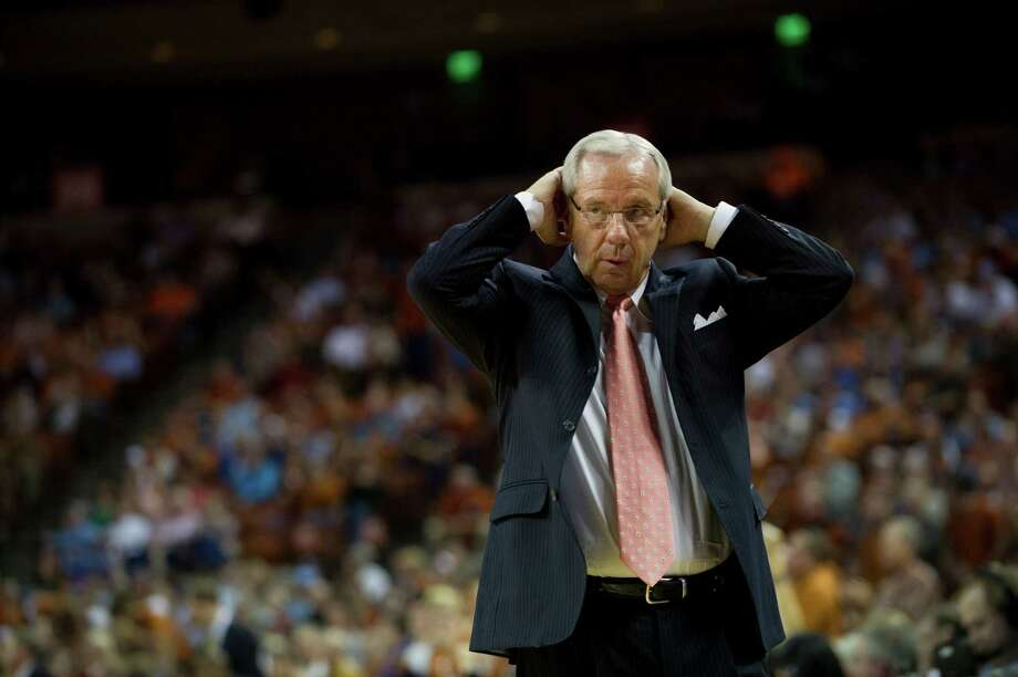 Head coach Roy Williams of the University of North Carolina Tar Heels reacts to his team's play against the University of Texas Longhorns on December 19, 2012 at the Frank Erwin Center in Austin. Photo: Cooper Neill, Getty Images / 2012 Getty Images