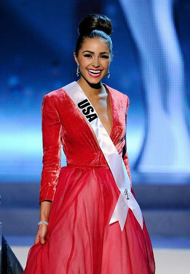LAS VEGAS, NV - DECEMBER 19:  Miss USA 2012, Olivia Culpo, smiles after answering a question during the interview portion of the 2012 Miss Universe Pageant at PH Live at Planet Hollywood Resort & Casino on December 19, 2012 in Las Vegas, Nevada. Culpo went on to be crowned the new Miss Universe.  (Photo by David Becker/Getty Images) Photo: David Becker, Getty Images