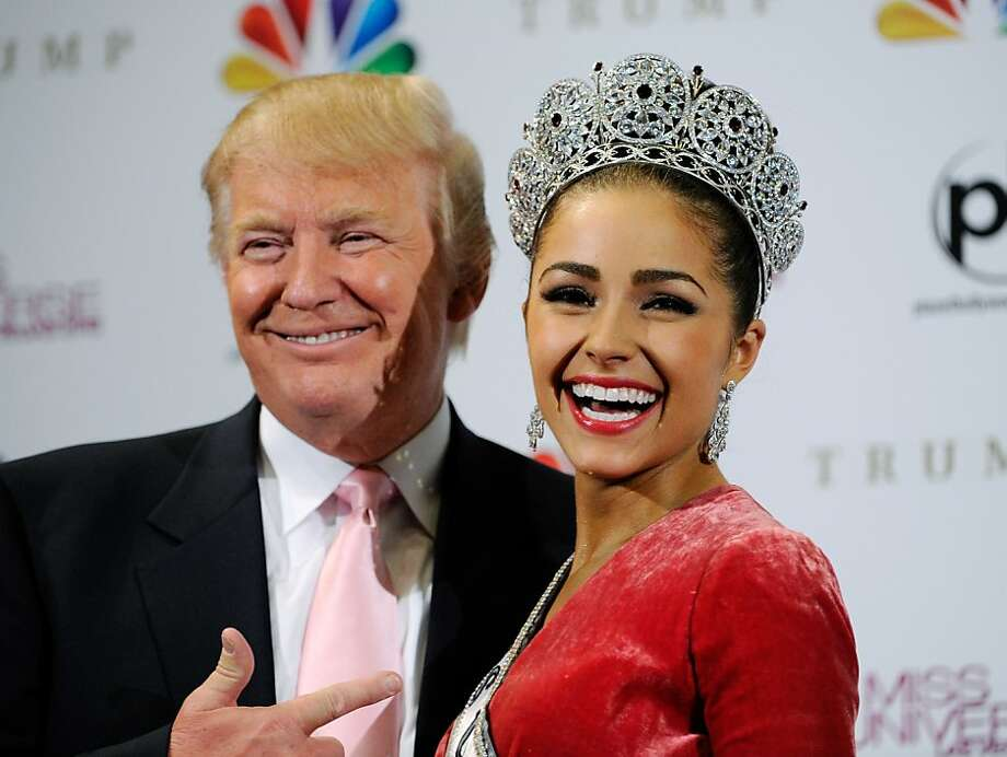 LAS VEGAS, NV - DECEMBER 19:  Donald Trump (L) poses with Miss USA 2012, Olivia Culpo, at a news conference after she was named the new Miss Universe during the 2012 Miss Universe Pageant at PH Live at Planet Hollywood Resort & Casino on December 19, 2012 in Las Vegas, Nevada.  (Photo by David Becker/Getty Images) Photo: David Becker, Getty Images