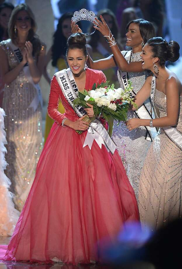 Miss USA, Olivia Culpo, is crowned Miss Universe 2012 during the Miss Universe Pageant at Planet Holywood in Las Vegas, Nevada on December 19, 2012.  Eighty-nine countries and territories took part in in this year's pageant.   AFP PHOTO / JOE KLAMARJOE KLAMAR/AFP/Getty Images Photo: Joe Klamar, AFP/Getty Images
