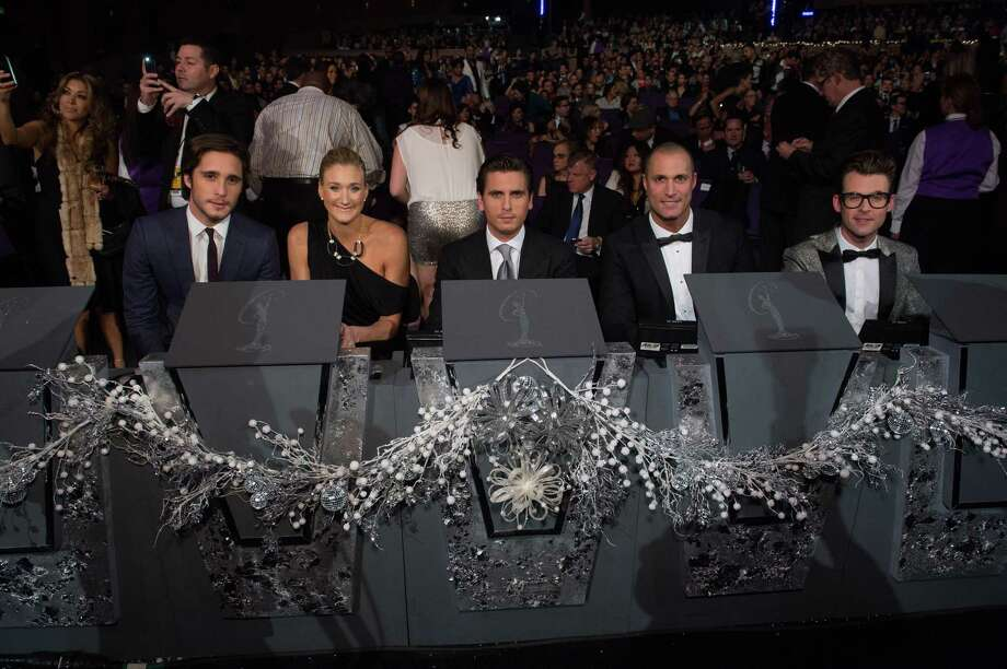 Judges from left, Diego Boneta, Kerri Walsh Jennings, Scott Disick, Nigel Barker, and Brad Goreski. Photo: Valerie Macon, Miss Universe Organization / RICHARD HARBAUGH