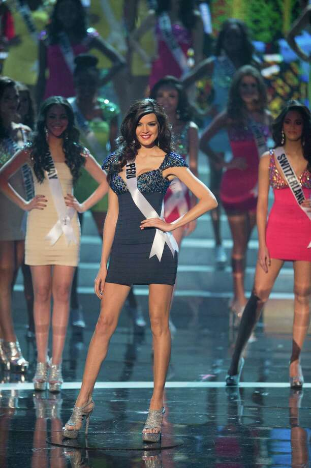 Miss Peru, Nicole Faveron, is announced as one of the top 16 contestants. Photo: Matt Brown, Miss Universe Organization / Miss Universe Organization