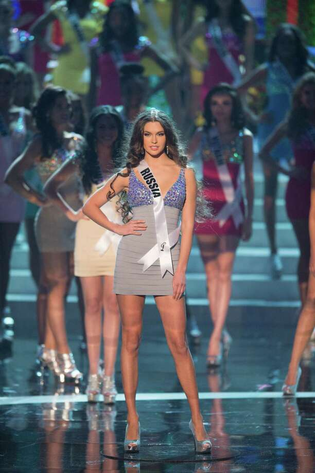 Miss Russia, Elizabeth Golovanova, is announced as one of the top 16 contestants. Photo: Matt Brown, Miss Universe Organization / Miss Universe Organization