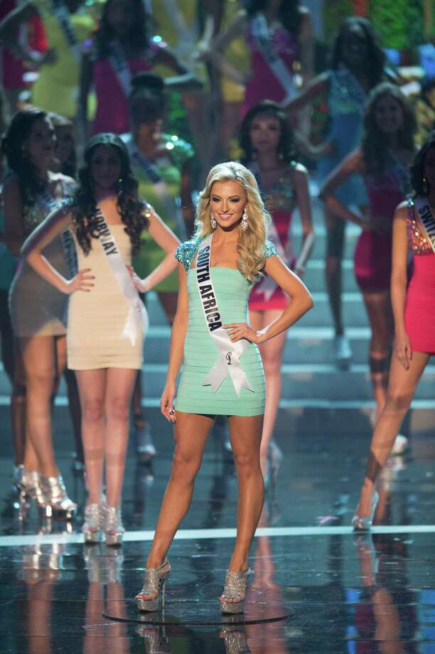Miss South Africa, Melinda Bam, is announced as one of the top 16 contestants. Photo: Matt Brown, Miss Universe Organization / Miss Universe Organization