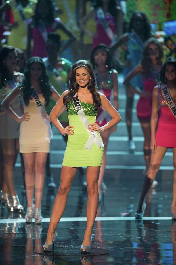 Miss Brazil, Gabriela Markus, is announced as one of the top 16 contestants. Photo: Matt Brown, Miss Universe Organization / Miss Universe Organization