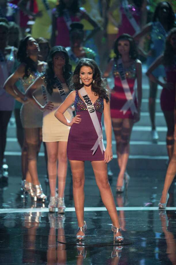 Miss Kosovo, Diana Avdiu, is announced as one of the top 16 contestants. Photo: Matt Brown, Miss Universe Organization / Miss Universe Organization