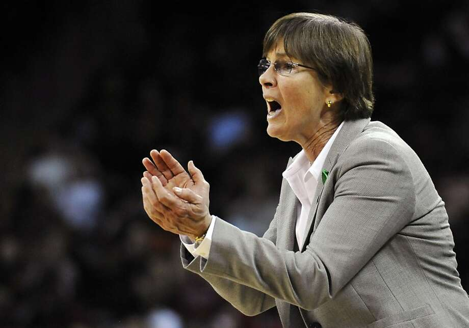 Stanford head coach Tara Vanderveer gives instructions to her players during the second half of an NCAA college basketball game against South Carolina, Wednesday, Dec. 19, 2012, in Columbia, S.C. Stanford won 53-49. (AP Photo/Rainier Ehrhardt) Photo: Rainier Ehrhardt, Associated Press