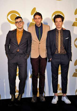 "The band Fun -- from left, Jack Antonoff, Andrew Dost and Nate Ruess -- will probably perform ""We Are Young"" when they come to the Fox Theater on Feb. 7. Photo: Donn Jones, Associated Press"