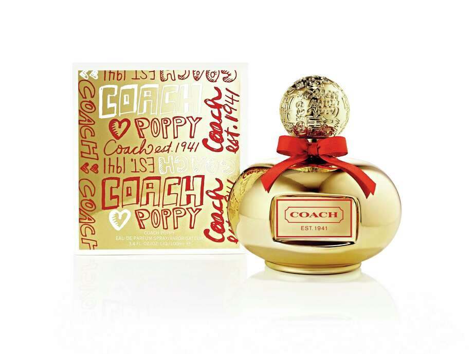 Coach Poppy Holiday Edition is a limited-edition gold bottle holding the Poppy scent. Photo: Coach / Coach