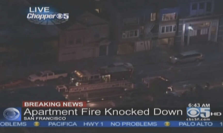 More than two dozen residents were displaced by an apartment fire in San Francisco's Oceanview neighborhood. Photo: CBS San Francisco