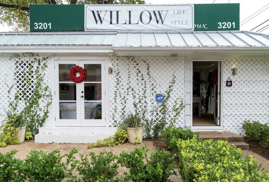 Above, Jill Faucetta at Willow, 3201 Westheimer, 713-870-0270. Below, Willow's storefront. Photo: Michael Paulsen, Staff / © 2012 Houston Chronicle