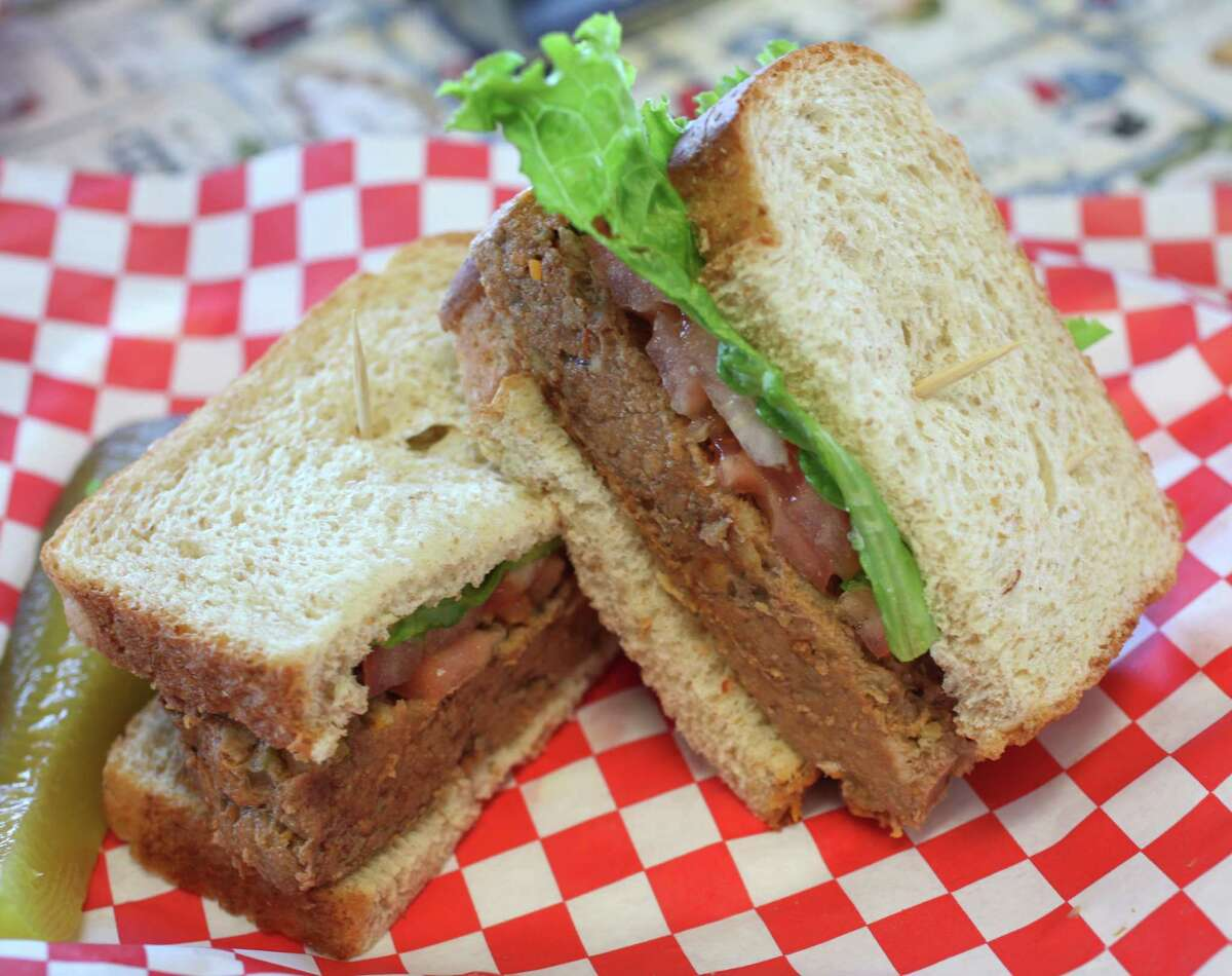 Meatloaf sandwich at Brown Bag Sandwich Shop on 11035 Wetmore Road Tuesday December 18, 2012