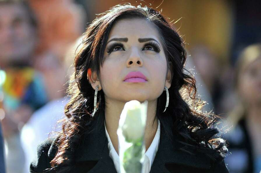 Ruby Solorio from Stockton,CA attends singer Jenni Rivera's memorial ceremony held at Gibson Amphith