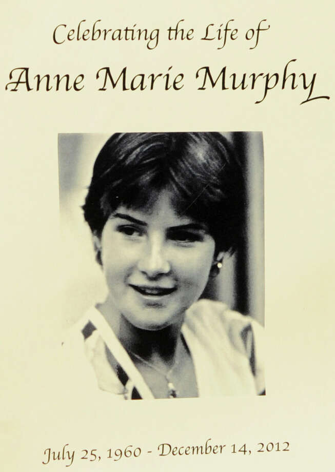 The front of the program for the funeral of Sandy Hook Elementary School Special Education teacher Anne Marie Murphy at St. Mary of the Assumption Roman Catholic Church in Katonah, NY, on Thursday, December 20, 2012. Photo: Lindsay Niegelberg, Niegelberg / Stamford Advocate