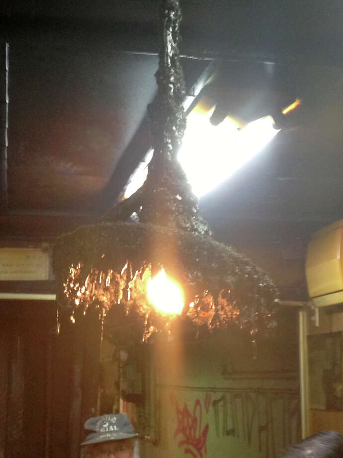The light fixture at the eel restaurant in Tokyo.