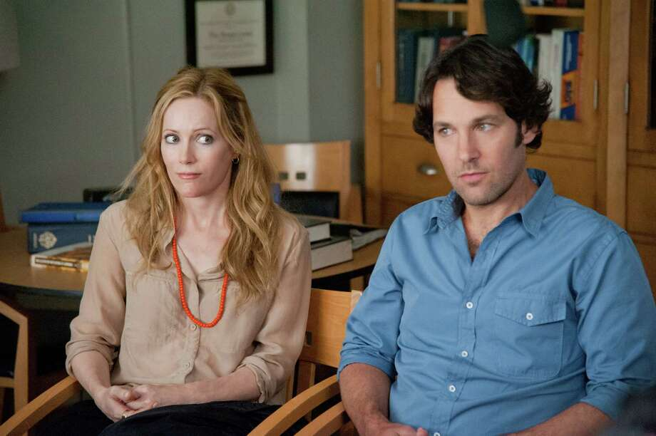 "Five years after writer/director Judd Apatow introduced us to Pete and Debbie in ""Knocked Up,"" Paul Rudd and Leslie Mann reprise their roles as a husband and wife both approaching a milestone meltdown in ""This Is 40."" Photo: Suzanne Hanover, Handout / ONLINE_YES"