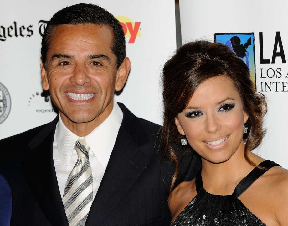 LOS ANGELES, CA - OCTOBER 11:  Los Angeles Mayer Antonio Villaraigosa (L) and actress Eva Longoria Parker arrive at the 13th Annual Los Angeles Latino Film Festival Opening Night Gala at the Grauman's Chinese Theatre on October 11, 2009 in Los Angeles, California.  (Photo by Michael Buckner/Getty Images) (Getty Images)