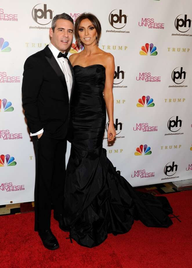 Television personalities and pageant co-hosts Andy Cohen (L) and Giuliana Rancic arrive at the 2012 Miss Universe Pageant at Planet Hollywood Resort & Casino on December 19, 2012 in Las Vegas, Nevada.  (Photo by David Becker/Getty Images) (Getty Images)