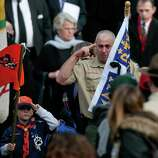 Mourners exit the building after the funeral for six year-old Benjamin Andrew Wheeler at Trinity Episcopal Church in Newtown on Thursday, December 20, 2012.