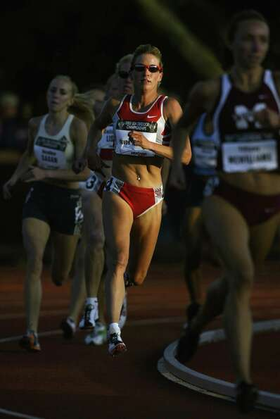 Suzy Favor Hamilton competes in the women's 1500m prelims at the USA Outdoor Track and Field Champio