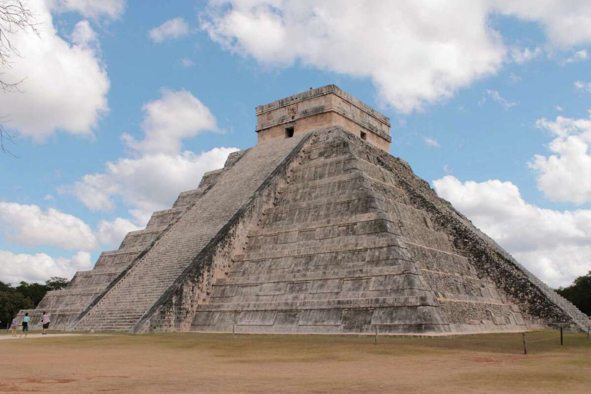 The Kukulkan Pyramid at the ancient Mayan city of Chichen Itza on Dec. 17, 2012, in Mexico. (Michael Janairo / Times Union)