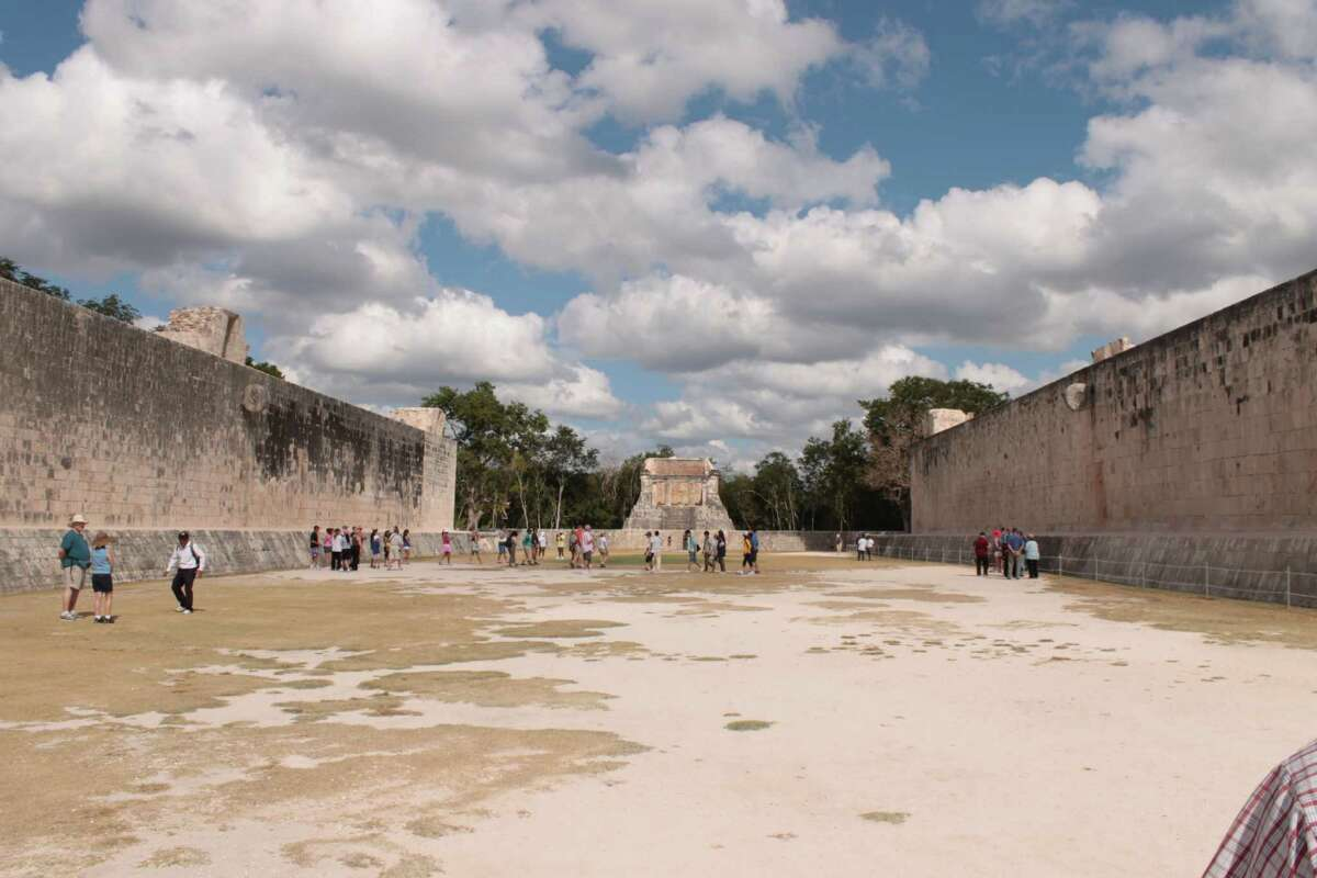The Ball Court at the ancient Mayan city of Chichen Itza on Dec. 17, 2012, in Mexico. (Michael Janairo / Times Union)