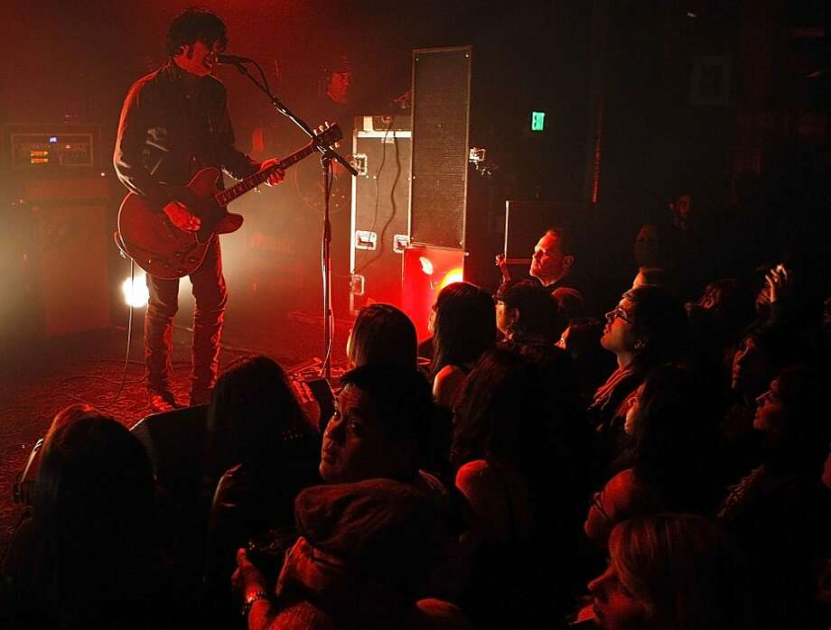 Peter Hayes and Black Rebel Motorcycle Club delivered a searing set at Slim's, yet barely acknowledged the audience. Photo: Sean Havey, The Chronicle
