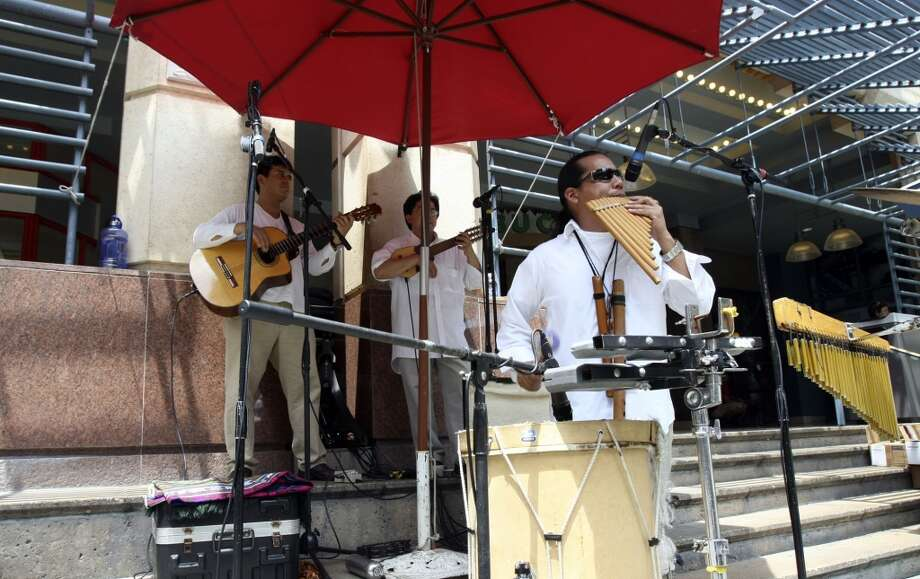 Grab a pan flute and join the Peruvian band at Rivercenter Mall. Why the Peruvians are performing hours before the end of the world is not important — just go with it. (SAN ANTONIO EXPRESS-NEWS)