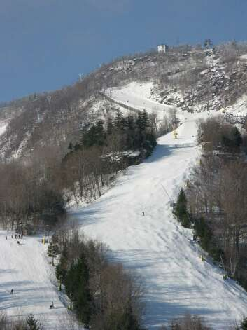 Hunter Mountain's terrain variety and challenge rank among New York State's top three, with Whiteface Mountain, the 1980 Winter Olympics alpine skiing venue outside Lake Placid and Gore Mountain. (Hunter Mountain)