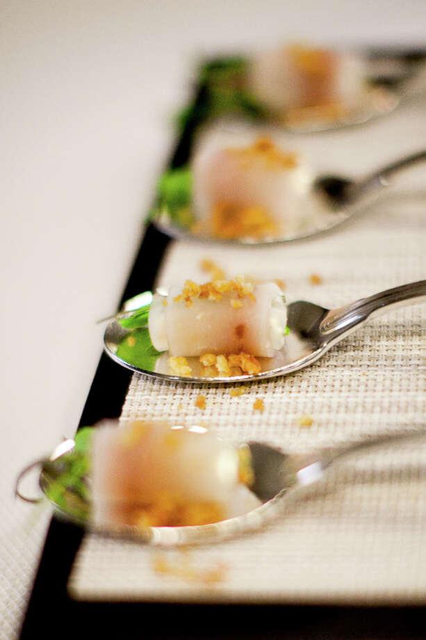 Canape: Pesce spada, smoked swordfish (Creel Films)